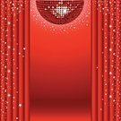 Disco Ball,Curtain,Catwalk - Stage,Stage Theater,Red,Performance,Clubbing,Evening Ball,Star Shape,Music,Vector,Shiny,Entertainment,Bright,Nightlife,Mosaic,Square,Ilustration,Vector Backgrounds,Vector Ornaments,Music,Arts And Entertainment,theatrics,Illustrations And Vector Art