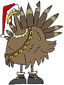 Turkey - Bird,Christmas,Cartoon,Thanksgiving,Bird,Ilustration,Bell,Feather,Thanksgiving,Birds,Christmas,Animals And Pets,Beak,Poultry,Holidays And Celebrations