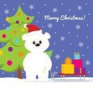 Sharing,Characters,North,Arctic,Bear,Love,Animal,Cute,Bear Cub,Holiday - Event,Greeting Card,Surprise,Teddy Bear,Christmas,Cartoon,Snowdrift,Mammal,Snowflake,Box - Container,Illustration,Polar Bear,Greeting,Sky,December,Pinaceae,2015,Fir Tree,Winter,Christmas Tree,Gift,Season,Young Animal,Snow,Cub,Gift Box,Snowing,Sled,Tree,Fun,Vector,Blue,Santa Hat,Red,Smiling,White Color,Fluffy,Standing