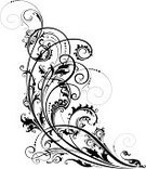 Floral Pattern,Swirl,Vine,Scroll Shape,Backgrounds,Design,Vector,Corner,Ornate,Design Element,Black Color,Computer Graphic,Art,Victorian Style,Elegance,Old-fashioned,Creativity,Gothic Style,Ilustration,Renaissance,Style,Black And White,Antique,Curve,Clip Art,Outline,Intricacy,Cartouche,Intertwined,Horizontal,Concepts,Cut Out,Isolated On White,Illustrations And Vector Art,Food And Drink,Concepts And Ideas