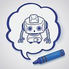 Creativity,Computer Graphics,Sign,Doodle,Cyborg,Pencil,Science,Toy,Illustration,Mascot,Symbol,Business Finance and Industry,2015,Robot,Computer Graphic,Drawing - Activity,Backgrounds,Business,Machinery,Vector,Scribble