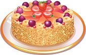 Cake,Dessert,Vector,Food,Ilustration,Baking,Lifestyle,Illustrations And Vector Art,Food And Drink