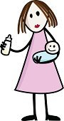 Nanny,Baby,Mother,Cartoon,Child,Feeding,Family,Milk,Newborn,Women,Simplicity,Carrying,Sparse,Vector,Parent,Baby Bottle,Embracing,Holding,Two Generation Family,Offspring,Cheerful,Bonding,Wife,Standing,Happiness,Human Lips,Isolated,Loving,Caucasian Ethnicity,Shadow,Pastel Colored,White,Adult,People,Concepts And Ideas,Dress,Unity,Pink Color,Care,White Background,mother and child,Illustrations And Vector Art,Vector Cartoons,Cute,Togetherness,Tranquil Scene,Smiling,Human Hair,Serene People