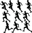 Running,Sprinting,Silhouette,Jogging,Men,Track And Field,Sport,Vector,People,Athlete,Exercising,Starting Line,Image Sequence,Profile View,Outline,Sports Race,Speed,Multiple Image,Competition,Professional Sport,Muscular Build,African Descent,Action,Side View,Agility,Black Color,100 Meter,Success,Spandex,Ilustration,Collection,Physical Activity,Adult,Part Of A Series,Isolated,Group Of People,Sports Training,Strength,Contrasts,Young Adult,Clipping Path,Isolated On White,Objects with Clipping Paths,Mid-Air,Traditional Sport,Number of People,Tracing,200 Meter,Actions,Large Group Of People,People,Isolated Objects,graphic element