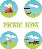 No People,Picnic,Illustration,Nature,Canoeing,Entertainment Tent,Table,Flat,Mountain,Mountain Peak,Nautical Vessel,Canoe,Snow,Bench,Vector