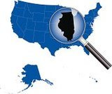 Illinois,Map,USA,state,Cartography,Magnifying Glass,Vector,Shape,Topography,Blue,Illustrations And Vector Art,Travel Locations,Backgrounds,Loupe,The Americas