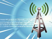 Radio,Communications Tower,Digital Display,Digitally Generated Image,Internet,Telecommunications Equipment,Communication,Motion,Global Communications,Data,Information Medium,Wave Pattern,Technology,Vector,Zero,Backgrounds,Sparse,Number 1,Blurred Motion,Modern,Illuminated,Glowing,Illustrations And Vector Art,Vibrant Color,Shadow,Shiny,Business,Translucent,Vector Backgrounds,Technology,Ilustration,Silver Colored,Reflection