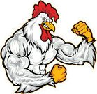 Rooster,Chicken - Bird,Mascot,Muscular Build,Strength,Animal Muscle,Furious,Anger,Displeased,Bird,Vector,Animal,Cruel,Sport,Cheap,Exercising,Relaxation Exercise,Power,Pride,Violence,Animal Teeth,Aggression,Attitude,Feather,Smiling,Confidence,Isolated Objects,Birds,Illustrations And Vector Art,Animals And Pets,Vector Cartoons,White Background