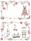 Celebration,Romance,Retro Styled,Engagement,Flower,Honeymoon,Background,Doodle,Wedding,Holiday - Event,Greeting Card,Old-fashioned,Valentine's Day - Holiday,Cheerful,Collection,Pair,Summer,Fiancé,Illustration,Leaf,Greeting,Icon Set,Computer Icon,Symbol,Wreath,Bride,Human Body Part,2015,Inviting,Family,Happiness,Invitation,Wishing,Decoration,Gift,Human Hand,Backgrounds,Cake,Decor,Vector,Sweet Food,Label,Wedding Ring,Crown,Engagement Ring,Floral Pattern,Pink Color