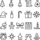 Cut Out,Celebration,No People,Candy,Candle,Holiday - Event,Christmas,Monochrome,Single Line,Illustration,Icon Set,Computer Icon,Christmas Decoration,Symbol,2015,Outline,Winter,Mistletoe,Sphere,Christmas Tree,Decoration,Gift,Monochrome,Season,Backgrounds,Calendar,Snow,Christmas Ornament,Santa Claus,Star Shape,Tree,Vector,Sock,Santa Hat,White Color,Hat,Black Color,White Background