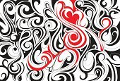 Abstract,Pattern,Indigenous Culture,Swirl,Elegance,Modern,Backgrounds,Shape,Design Element,Design,Red,Colors,Computer Graphic,Wallpaper Pattern,Wave Pattern,Vector,Black Color,Creativity,Curve,Art,Style,Ilustration,Vector Backgrounds,Concepts,Ornate,Illustrations And Vector Art,Backdrop,Vector Ornaments,Image,Decoration,Decor