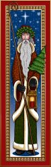 Santa Claus,Victorian Style,Christmas,Cultures,Old-fashioned,Christmas Tree,Vector,Snow,Ilustration,Frame,Illustrations And Vector Art,Holidays And Celebrations,Christmas,Winter,Holly,Ermine,Shepherd's Staff,Lantern,Holiday