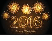 Background,New Year's Eve,Illustration,2016,2015,Happiness,New Year,Backgrounds,Vector,Gold Colored