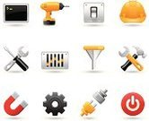 Symbol,Work Tool,Computer Icon,Icon Set,Gear,Setting,Electric Plug,Hammer,Hardhat,Funnel,Magnet,Equipment,Action,Connection,Vector,Work Helmet,Switch,Spanner,Push Button,Screwdriver,Set,Interface Icons,Drill,Control,Graph,Separating Funnel,Computer Monitor,Start Button,Collection,Sound Mixer,Claw Hammer,Horseshoe Magnet,Power Plug