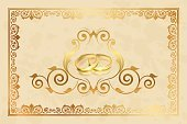 No People,Wedding,Illustration,2015,Inviting,Invitation,Backgrounds,Gold,Vector,Gold Colored,Ring
