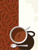 Coffee - Drink,Coffee Bean,Chocolate,Coffee Cup,Cup,Bean,Sign,Vector,Pattern,Backgrounds,Spoon,Teaspoon,Art,Abstract,Drink,Heat - Temperature,Espresso,Ilustration,Mug,Dessert,Silverware,Design,Symbol,Hot Drink,Full,Mocha,Chocolate Dessert Cup,Liquid,Brown,Inspiration,Beige,White,Painted Image,Dark,Single Object,Design Element,Color Image,morning coffee,Breakfast Coffee,Black Coffee,Copy Space,Food And Drink,Illustrations And Vector Art,Objects/Equipment,Style