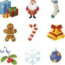 Santa Claus,Gingerbread Man,Symbol,Christmas,Computer Icon,Icon Set,Religious Icon,Christmas Ornament,Decoration,Candy Cane,Holiday,Christmas Stocking,Gold,Stockings,Gold Colored,Gift,Vector,Interface Icons,Christmas Icons,Full,Snow,Bell,Name Tag,Season,Holly,Leaf,Single Object,Winter,Berry Fruit,Green Color,Design Element,Illustrations And Vector Art,Holidays And Celebrations,Vector Icons,Star Shape,Christmas,Yellow,Red,Blue,Xmas Icons,Ribbon,Celebration
