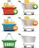 Shopping Cart,Store,Basket,Symbol,Buy,E-commerce,Computer Icon,Retail,Buying,Sign,Box - Container,Gift,Set,Isolated,Ideas,Concepts,Ilustration,Design,Color Image,Vector Icons,Illustrations And Vector Art,Shadow,Modern,Inspiration