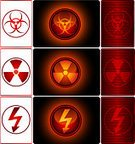 Danger,Biohazard Symbol,Biology,Radioactive Warning Symbol,Symbol,Radiation,Sign,Warning Symbol,Hazardous Area Sign,Warning Sign,Interface Icons,Chemistry,Explosive,Energy,High Voltage Sign,Toxic Substance,Image,Backgrounds,Computer Icon,Pattern,Power,Protection,Threats,Black Color,Vector,Design Element,Computer Graphic,Heat - Temperature,Red,Isolated,Illustrations And Vector Art,Medicine And Science,Science Symbols/Metaphors,Clip Art,Vector Icons,Ilustration,Color Image,Pushing,Shiny