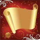 Christmas,Parchment,Scroll,Banner,Scroll Shape,Gold Colored,Backgrounds,Rolled Up,Seal - Stamp,Classic,Tree,Old,Red,Greeting,Decoration,Placard,Traditional Festival,Joy,Holiday,Christmas Decoration,Winter,Christmas Ornament,Composition,Isolated,Holidays And Celebrations,Square Shape,Christmas,New Year's,Holiday Symbols,Ilustration
