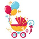 Baby Shower,Baby Carriage,Baby Stroller,Balloon,Confetti,Gift,Retro Revival,Party - Social Event,Fun,Streamer,Cute,Parties,Birthdays,Lifestyle,Holidays And Celebrations,Babies And Children