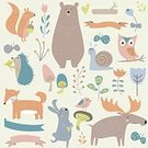 Child,111645,Wooland,Elegance,Humor,Retro Styled,Flower,Squirrel,Background,Fox,Deer,Bear,Animal,Cute,Hedgehog,Painted Image,Old-fashioned,Teddy Bear,Cartoon,Collection,Animals In The Wild,Illustration,Nursery - Bedroom,Fashion,2015,Rabbit - Animal,Ribbon - Sewing Item,Single Flower,Mushroom,Woodland,Elk,Butterfly - Insect,Education,Bird,Heart Shape,Decoration,Art Deco,Forest,Backgrounds,Hare,Arts Culture and Entertainment,Vector,Design,Snail,Flourish,Floral Pattern