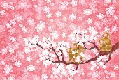 Cherry Blossom,Flower,Background,Offspring,Cute,Petal,New Year's Day,Rice Paper,Young,Illustration,Postcard,,2016,Computer Icon,2015,Cherry Tree,Backgrounds,Primate,Tree,Vector,Springtime,Material,Pink Color