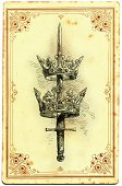 Crown,Sword,Insignia,Royalty,Fantasy,Ilustration,Old,Old-fashioned,Symbol,Weapon,The Past,Drawing - Art Product,Middle Ages,Engraved Image,Authority,Sketch,Objects/Equipment,Power,Illustrations And Vector Art,St. Edward's Crown,Majestic,Concepts And Ideas