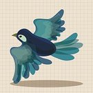 Abstract,Love,Sign,Animal,Cute,Illustration,Nature,Symbol,2015,Flying,Birdsong,Bird,Backgrounds,Vector,Blue