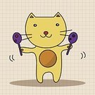 Animal,Cute,Guitar,Orchestra,Illustration,Zoo,2015,Trumpet,Backgrounds,Musician,Fun,Vector