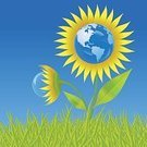 Earth,Recycling,Planet - Space,Flower,World Map,Environment,Blue,Nature,Backgrounds,Plant,Bubble,Concepts,Map,Grass,Vector,Vector Florals,Vector Backgrounds,Illustrations And Vector Art,Ilustration