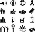 Handshake,Human Hand,Charity and Relief Work,Symbol,Computer Icon,Thermometer,Megaphone,Agreement,Icon Set,Thumbs Up,Fundraiser,Stick Figure,Coin,Check Mark,Globe - Man Made Object,Black And White,Ribbon,Clipboard,Money Bag,Hand Raised,Arms Outstretched,Stop Sign,Dollar,Speaker,Dollar Sign,Stop Gesture,Palm,Bar Graph,Volunteer Event