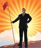 Flag,Mountain Peak,Men,Mountain,Businessman,Business,Tall Person,Success,Standing,Vector,Sun,Confidence,Strength,Full Length,Sunlight,Concepts,Cloud - Sky,Multi Colored,Illustrations And Vector Art,Business Concepts,Business,Business People,Ilustration,Bright,Sky