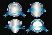 Shield,Coat Of Arms,Insignia,Badge,Banner,Medal,Silver - Metal,Sign,Silver Colored,Vector,Symbol,Metal,heraldic,Ribbon,Frame,Placard,Scroll Shape,Steel,Ilustration,Computer Graphic,Design Element,Decoration,graphic element,Concepts And Ideas,Vector Icons,Vector Ornaments,Illustrations And Vector Art,Success