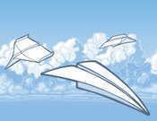 Paper Airplane,Airplane,Cloud - Sky,Sky,Cartoon,Sketch,Flying,Vector,Blue,Ilustration,folded paper,Transportation,Vector Icons,Air Travel,Illustrations And Vector Art,Symbol,Travel Locations