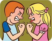 Fighting,Child,Conflict,Displeased,Arguing,Anger,Furious,Sibling,Little Girls,Little Boys,Sister,Bullying,Brother,Face To Face,Ilustration,Profile View,Fist,Irritation,Grimacing,Sticking Out Tongue,Negative Emotion,Staring,Feelings And Emotions,Illustrations And Vector Art,Concepts And Ideas,People