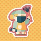 Adult,Women,Clean Up,Mother,Chinese New Year,Pollution,Cleaner,Illustration,Indoors,Chinese Culture,Cleaning,2015,Housework,Cleanup,Garbage,Environment,Social Issues,Lifestyles,Vector