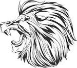 Cut Out,Animal,Painted Image,Animals In The Wild,Illustration,Coat Of Arms,Mascot,2015,Animal Mouth,Animal Body Part,Animal Head,Furious,Lion - Feline,Vector,Design,Roaring,Anger,Tattoo