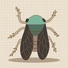 Adult,Women,Animal,Mosquito,Cute,Illustration,Nature,Symbol,2015,Ladybug,Bee,Insect,Backgrounds,Beetle,Vector