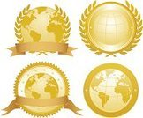 Sign,Award,Globe - Man Made Object,Seal - Stamp,Gold Colored,Earth,Gold,Security,Global Communications,Global Business,Badge,Satisfaction,Branding,Upper Class,Success,Laurel Wreath,Insignia,Sphere,warranty,Banner,International Landmark,Majestic,Achievement,Label,Placard,Star Shape,Identity,Advertisement,Brand-name,Message,Satisfaction Guaranteed,Vector Ornaments,Illustrations And Vector Art