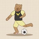 Soccer,Animal,Cute,Mammal,Illustration,2015,Sport,Playing,Backgrounds,Fun,Vector