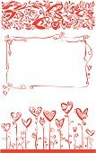 Flores,Valentine's Day - Holiday,Heart Shape,Love,Frame,Floral Pattern,Flower,Pattern,Silhouette,Vector,Red,Decoration,Valentine Card,Abstract,Wedding,Symbol,Design Element,Plant,Design,Part Of,Single Line,Romance,Shape,Leaf