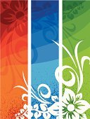 Focus On Background,Banner,Flower,Floral Pattern,Backgrounds,Design,Green Color,Blue,Swirl,Pattern,Grunge,Scroll Shape,Vector,Nature,Red,Vibrant Color,Ilustration,Arts Backgrounds,Nature Backgrounds,Arts Abstract,Design Element,Nature,Arts And Entertainment