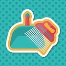 ,Animal,Cute,Cleaner,Illustration,Sweeping,Cleaning,2015,Housework,Cotton Swab,Pets,Dog,Groomer,Lifestyles,Vector
