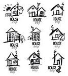 No People,Cottage,Sketch,Sign,Collection,Illustration,House,Icon Set,Computer Icon,Symbol,2015,Roof,Building Exterior,Window,Built Structure,Vector,Door,Residential District,Architecture,Residential Building