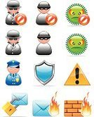 Police Force,Firewall,Thief,Computer Hacker,Security,Internet,E-mail Spam,Network Security,Computer Bug,Computer Icon,Shield,Anti-spam,Set,Sign,Ilustration,Mail,Icon Set,Vector,Wall,Lock,Padlock,Fire - Natural Phenomenon,Warning Sign,Vector Icons,Illustrations And Vector Art