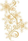 Snowflake,Gold Colored,Holiday,Elegance,Pattern,Backdrop,Vector,Ornate,Decoration,Ilustration,Ice,Frozen,Season,Shape,Curled Up,New Year's,Christmas,Holidays And Celebrations,Illustrations And Vector Art,Image
