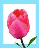 Vertical,Abstract,Creativity,No People,Flower,Two-dimensional Shape,Mosaic,Polygonal,Background,Tulip,Sign,Geometric Shape,Illustration,Nature,2015,Single Flower,University,Low,Backgrounds,Photography,Pink Color