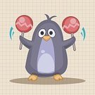 Animal,Cute,Guitar,Orchestra,Illustration,Zoo,Penguin,2015,Trumpet,Backgrounds,Musician,Fun,Vector