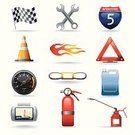 Global Positioning System,Fire Extinguisher,Engine,Speedometer,Road Sign,Oil,Electric Motor,Traffic,Rpm,Stoplight,Traffic Cone,Flag,Work Tool,Belt,Fuel and Power Generation,Machine Part,Sign,Gasoline,Flame,Bottle,Triangle,Land Vehicle,Fossil Fuel,Oil Industry,Sports Flag,Speed Meter,Industrial Objects/Equipment,Illustrations And Vector Art,Transportation,Objects/Equipment,Vector Icons